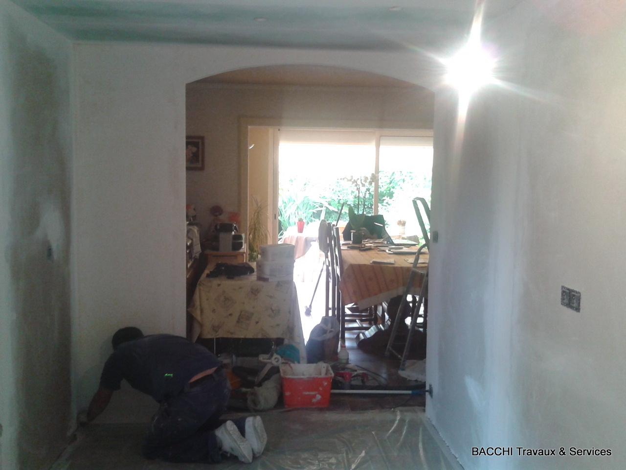 Création d'une ouverture en arrondi vers la salle à manger