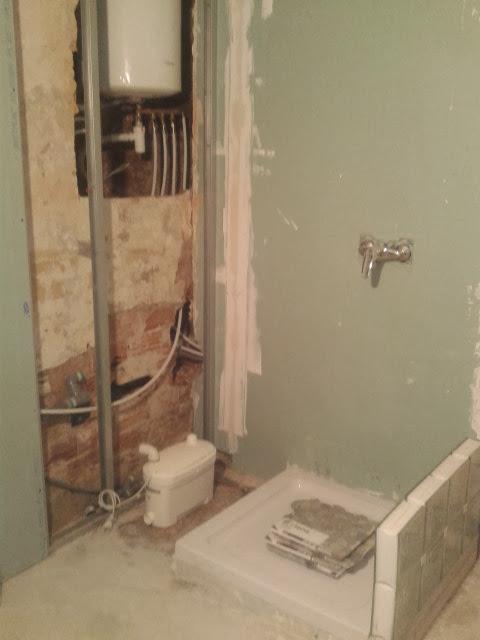 création de la nouvelle salle de bain