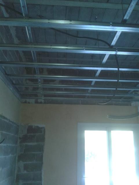 création d'un faux plafond à 2m60, hauteur plafond 3m70